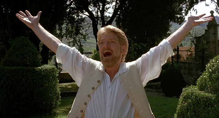 Kenneth Branagh in Much Ado about Nothing, 1993