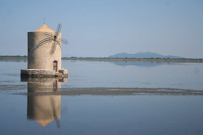 The lagoon of Orbetello and the Spanish Mill
