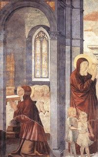 St Augustine Leaving his Mother by Benozzo Gozzoli