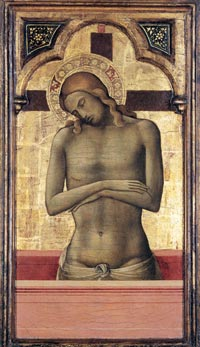 Lorenzo Monaco, Christ as the Man of Sorrows, 1415-17