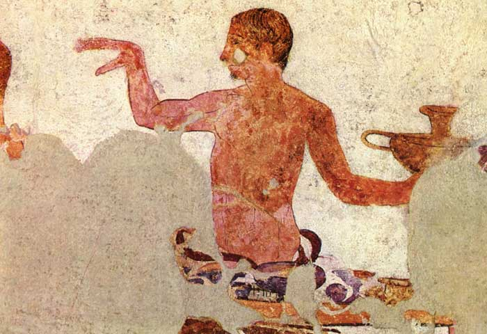 Preparation for the feast (detail), ca. 340—280 B.C. Orvieto, Golini tomb