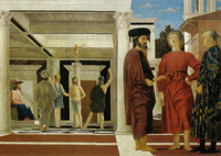 Piero della Francesca, The Flagellation, c. 1455, Oil and tempera on panel, 59 x 82 cm, Galleria Nazionale delle Marche, Urbino