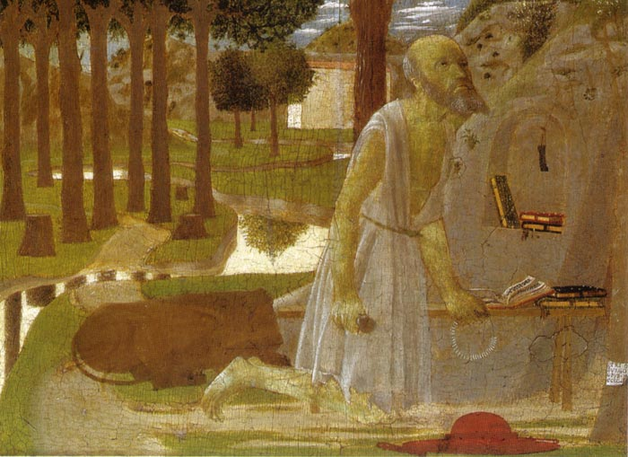 Piero della Francesca | The Penance of St. Jerome (1450), Berlin