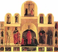 Piero della Francesca | Polyptych of the Madonna of Misericordia (1445-1462), Sansepolcro