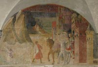 The Badia Fiorentina, frescoes by Nardo di Cione