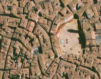 Siena, Piazza del Campo. GeoEye-1.50-meter resolution collected 15 August 2009