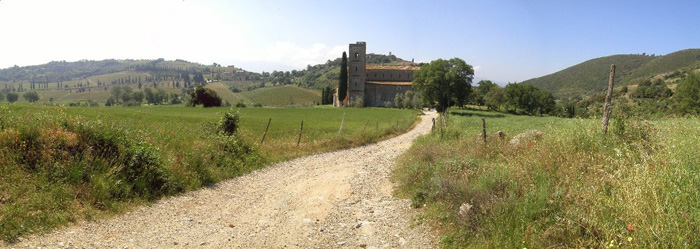 Nearby the town of Sant'Angelo in Colle
