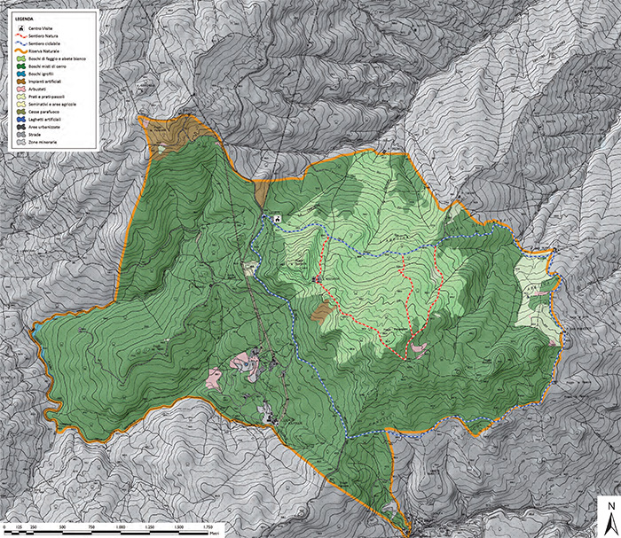 Mappa Pigelleto Natural Reserve